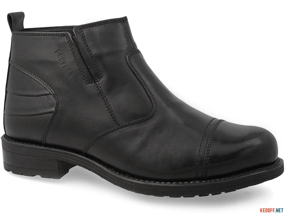 Ботинки на меху Greyder 65432 Черная кожа