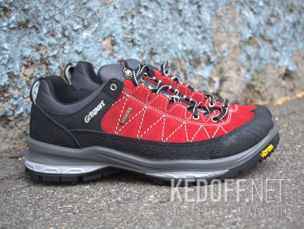 Ботинки Grisport Vibram Gritex 12501-S7 Made in Italy унисекс   (чёрный/красный)