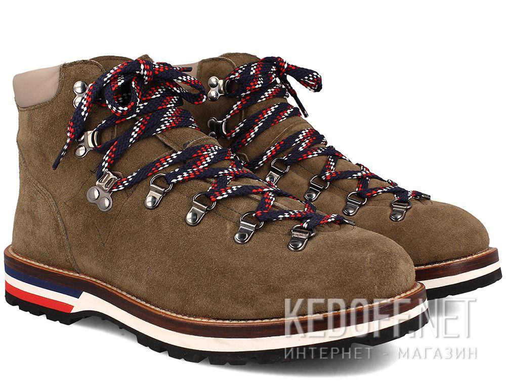 Ботинки Moncler Peak Green Suede Vibram Made in Italy купить Киев
