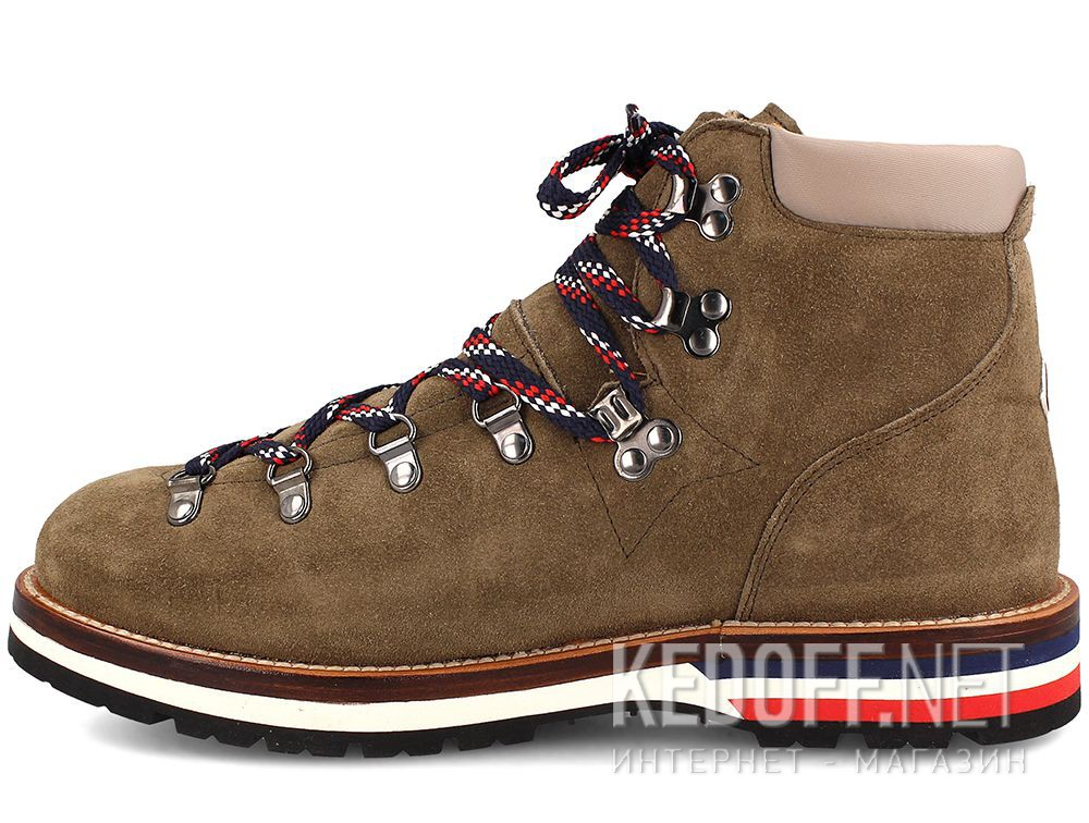 Оригинальные Ботинки Moncler Peak Green Suede Vibram Made in Italy