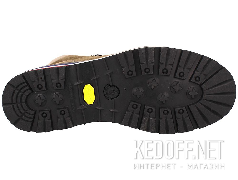 Ботинки Moncler Peak Green Suede Vibram Made in Italy описание