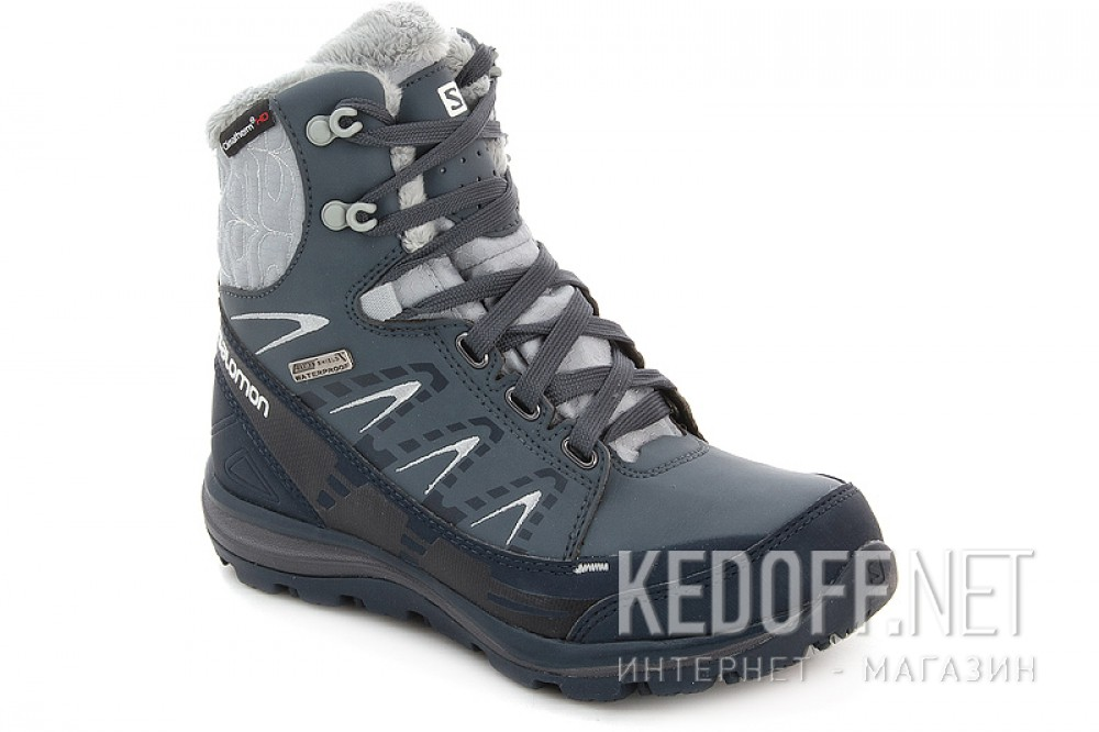 Add to cart Winter boots Salomon Kana Mid CS WP 366804 unisex (dark grey/blue)