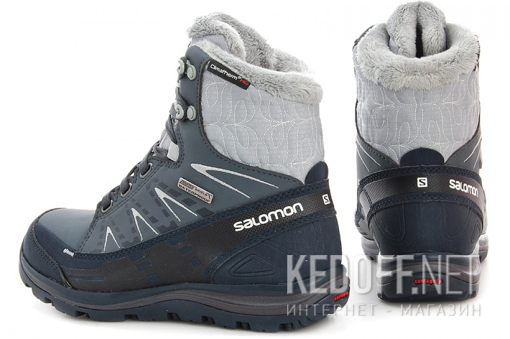 Winter boots Salomon Kana Mid CS WP 366804 unisex (dark grey/blue) купить Киев