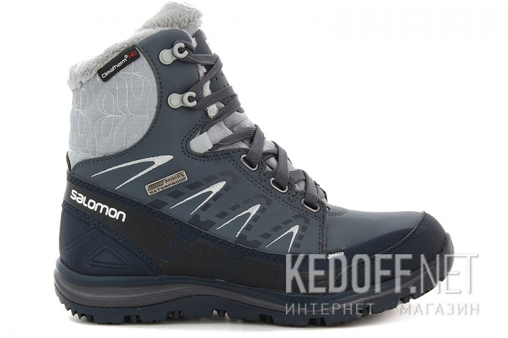 Winter boots Salomon Kana Mid CS WP 366804 unisex (dark grey/blue) описание