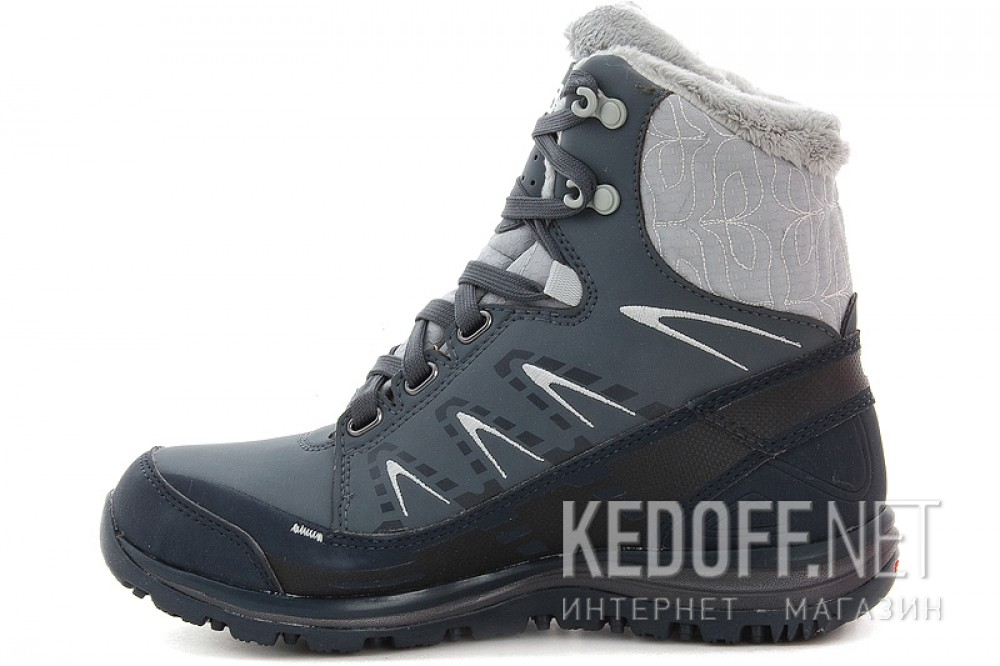 Оригинальные Winter boots Salomon Kana Mid CS WP 366804 unisex (dark grey/blue)