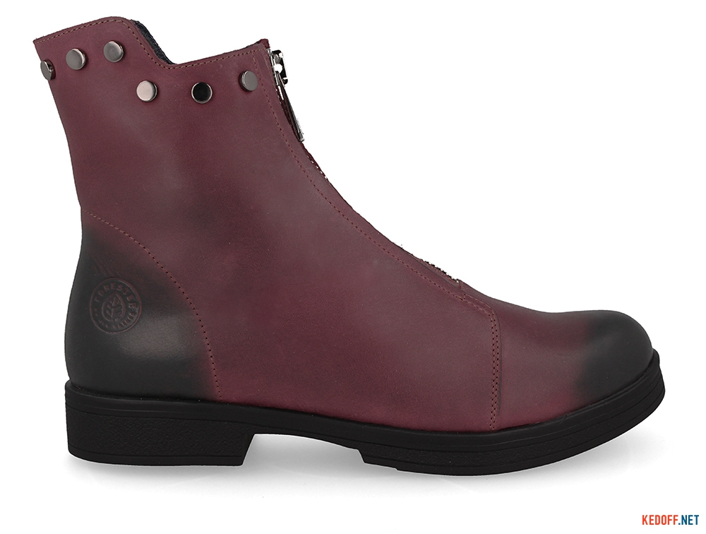 Жіночі черевички Forester 3503-48 BURGUNDY купить Киев