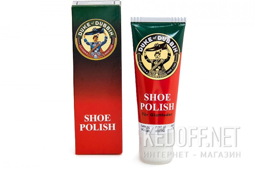 Cream for smooth leather Duke of Dubbin Shoe Polish colorless 5016