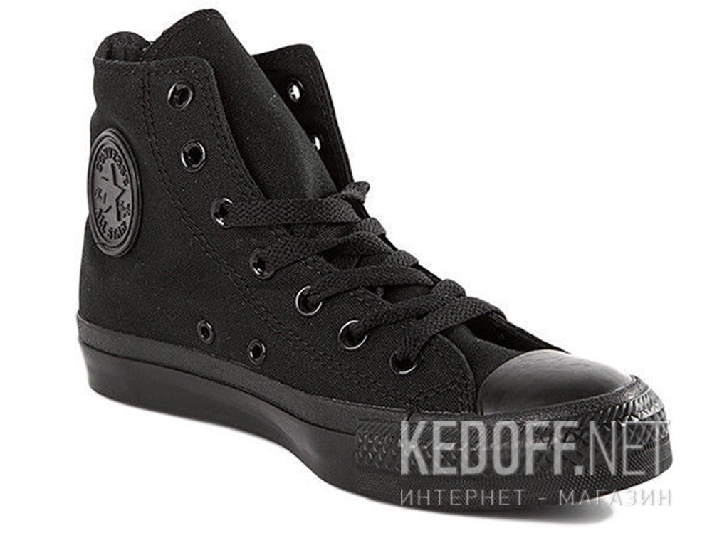 Купити Кеди Converse Chuck Taylor All Star Core Hi Black Monochrome M3310 унісекс (Чорний)