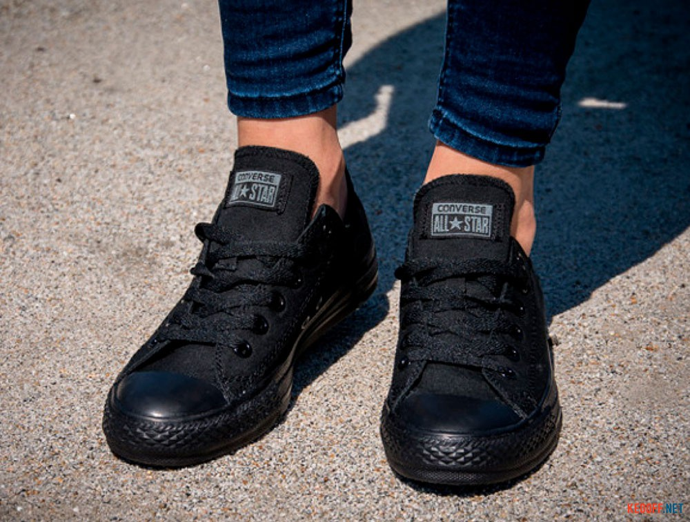 812b7335cb0 Converse sneakers Chuck Taylor All Star Ox Blk Mono M5039 unisex (Black)  все размеры