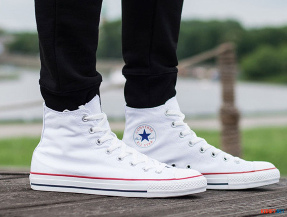 Кеды Converse Chuck Taylor All Star Hi Optical White M7650 унисекс (белый)  доставка по cb00bf78bb5f3