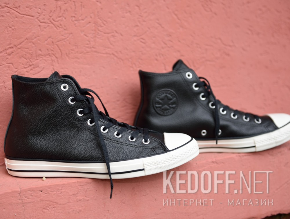 Мужские кеды Converse Chuck Taylor All Star Tumble Leather 157468C   (чёрный) Фото 13