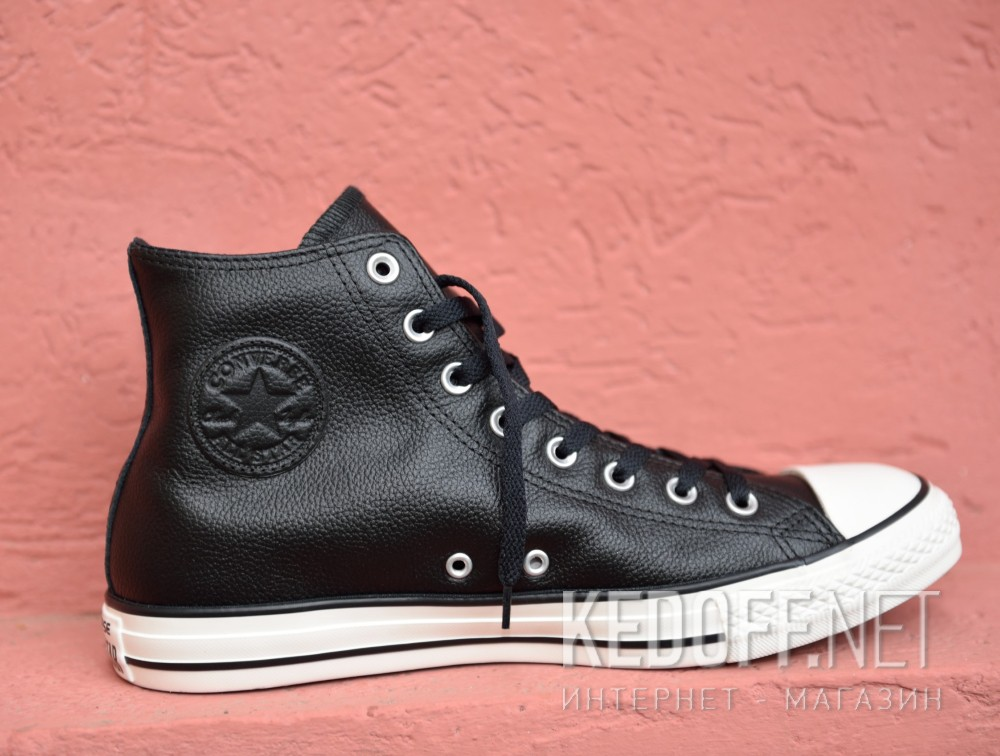 Мужские кеды Converse Chuck Taylor All Star Tumble Leather 157468C   (чёрный) Фото 14