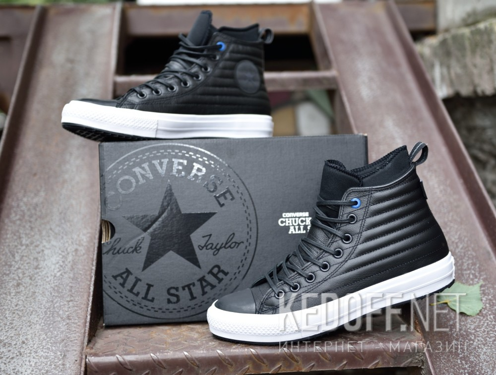 e044c4756182 Leather sneakers Converse Chuck Taylor All Star Waterproof Boot Quilted  Leather 157492C unisex (Black)