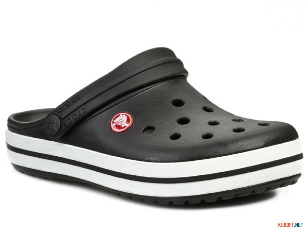 Купить Сандалии Crocs Crocband 11016-001 унисекс   (чёрный/белый)