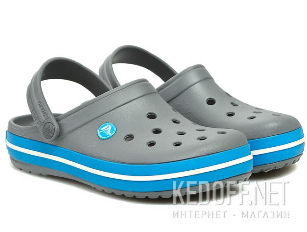 Sandals Crocs Crocband 11016-07W unisex (dark grey/blue/gray) купить Украина