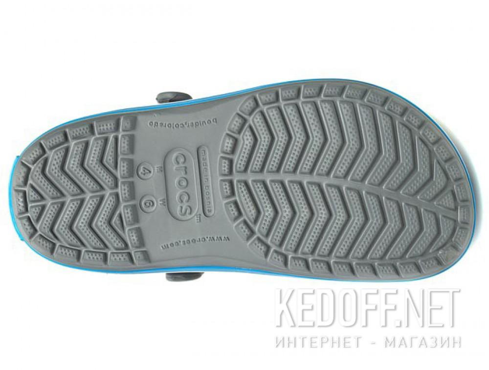 Sandals Crocs Crocband 11016-07W unisex (dark grey/blue/gray) описание
