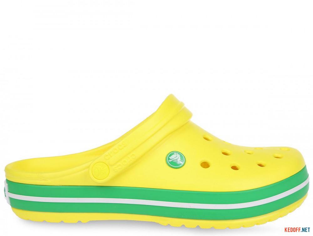 Пляжная обувь Crocs Crocband Lemon/Grass Green 11016-7A8 унисекс   (зеленый/жёлтый) купить Украина