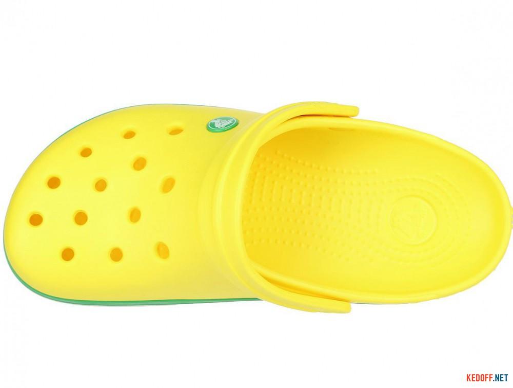 Пляжная обувь Crocs Crocband Lemon/Grass Green 11016-7A8 унисекс   (зеленый/жёлтый) все размеры