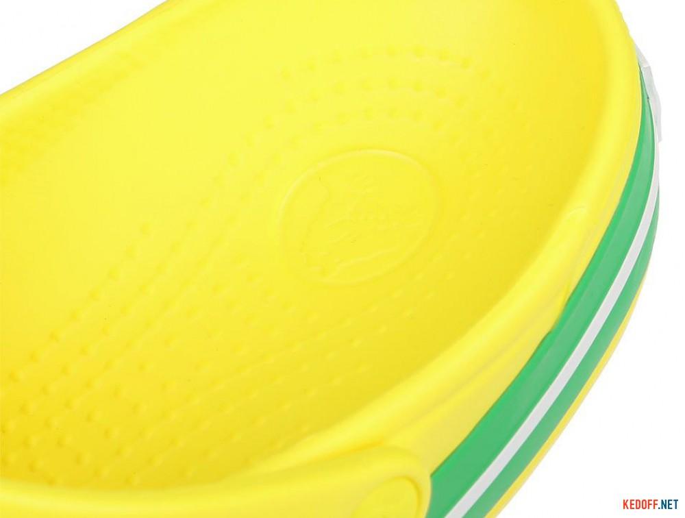 Пляжная обувь Crocs Crocband Lemon/Grass Green 11016-7A8 унисекс   (зеленый/жёлтый) доставка по Украине