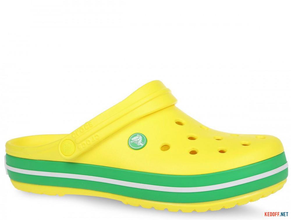 Купить Пляжная обувь Crocs Crocband Lemon/Grass Green 11016-7A8 унисекс   (зеленый/жёлтый)