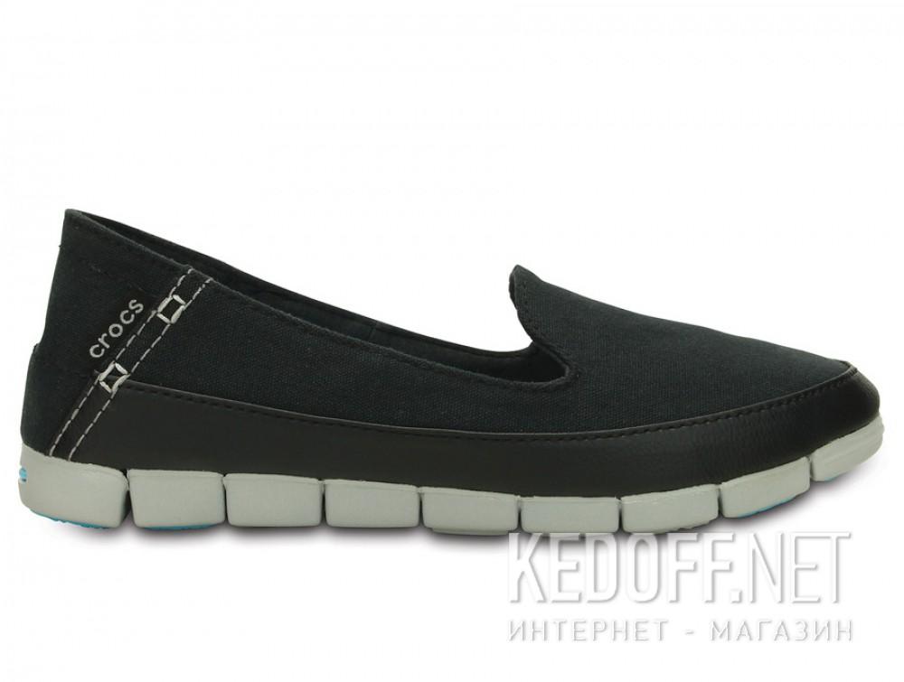 Слипоны Crocs Stretch Sole Skimmer 200342-02G   (голубой/чёрный) купить Киев