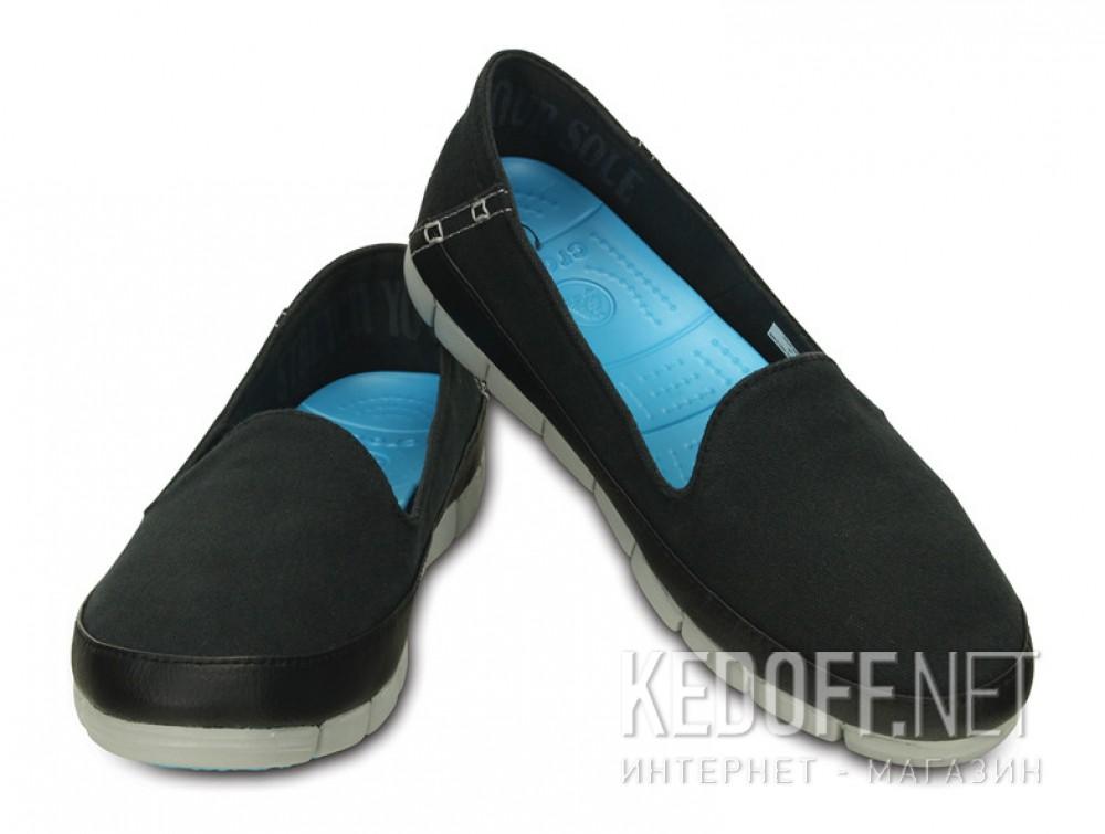 Слипоны Crocs Stretch Sole Skimmer 200342-02G   (голубой/чёрный) описание