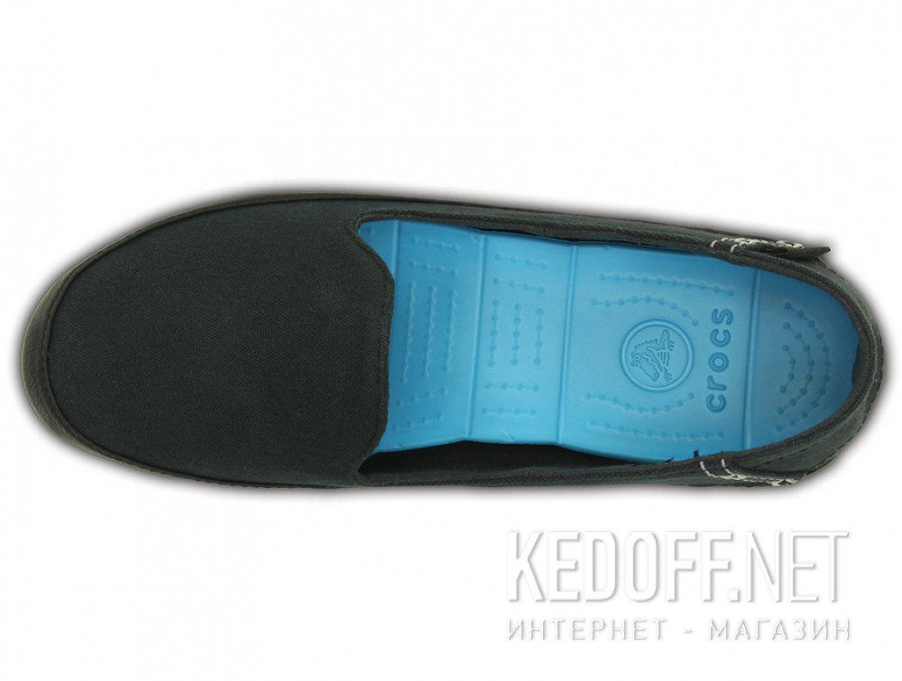 Слипоны Crocs Stretch Sole Skimmer 200342-02G   (голубой/чёрный) все размеры