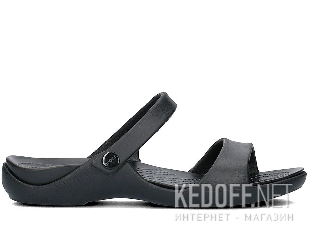 Сандалии Crocs Cleo V Flat Sandal 204268-060  (чёрный) все размеры