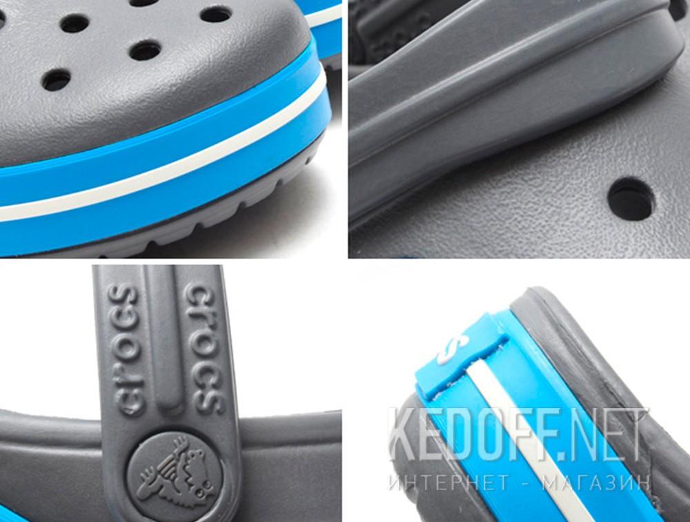 Цены на Sandals Crocs Crocband 11016-07W unisex (dark grey/blue/gray)