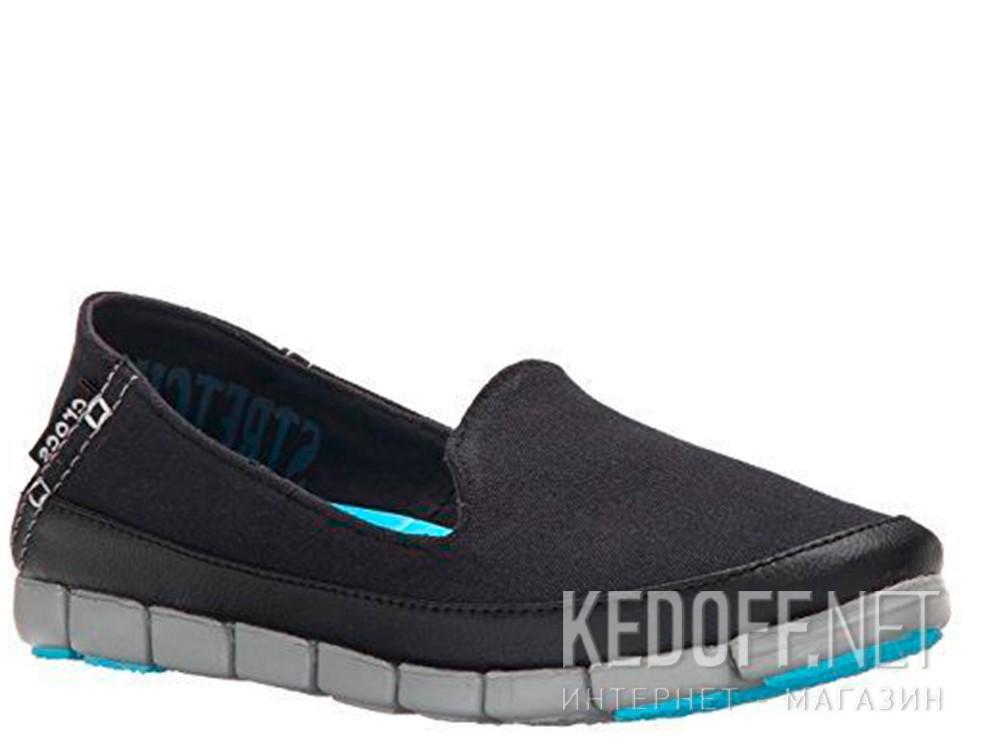 Оригинальные Слипоны Crocs Stretch Sole Skimmer 200342-02G   (голубой/чёрный)