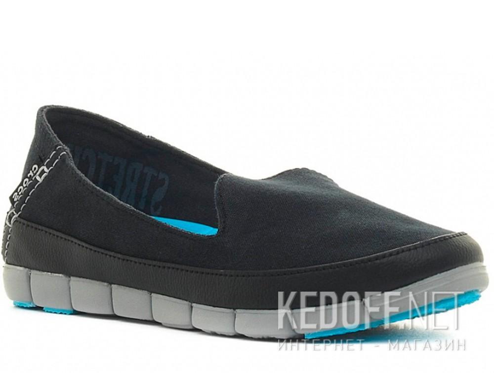 Купить Слипоны Crocs Stretch Sole Skimmer 200342-02G   (голубой/чёрный)