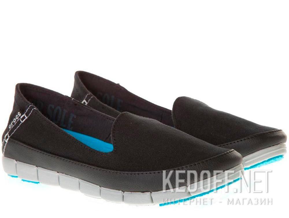Слипоны Crocs Stretch Sole Skimmer 200342-02G   (голубой/чёрный) купить Украина