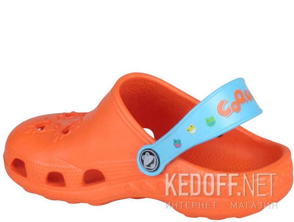 Детская пляжная обувь Coqui 6402 99 39 00 8701 Orange/Blue купить Украина