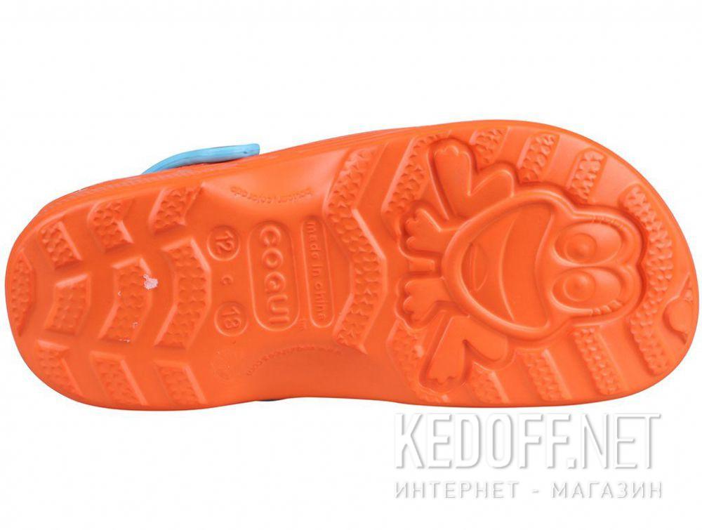 Детская пляжная обувь Coqui 6402 99 39 00 8701 Orange/Blue купить Киев