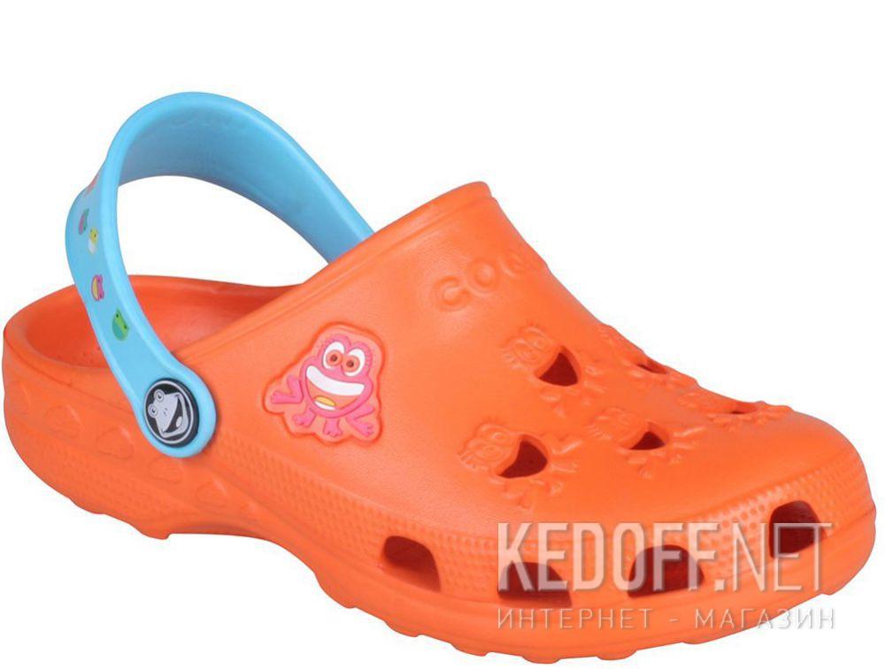 Купить Детская пляжная обувь Coqui 6402 99 39 00 8701 Orange/Blue