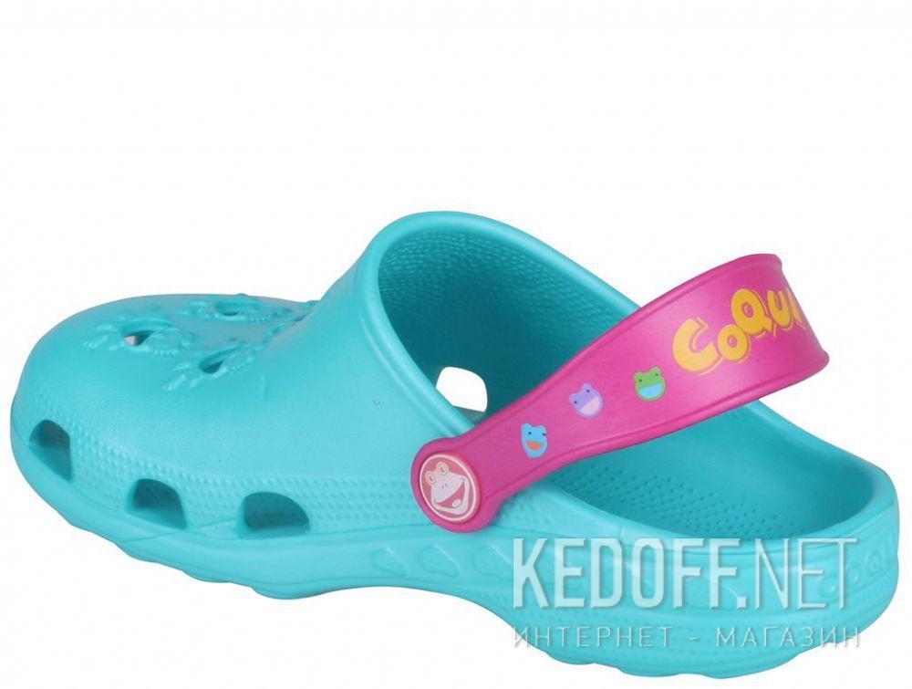 Дитяче пляжне взуття Coqui 6402 99 39 00 8701 Turquoise/Magenta купити Україна