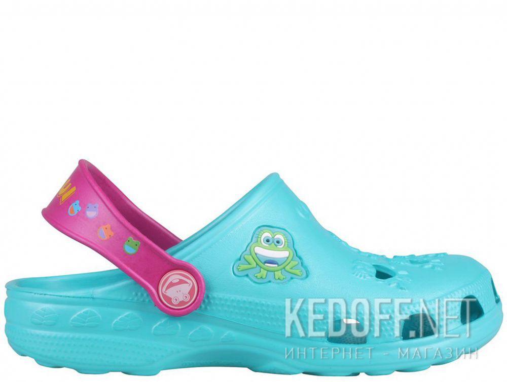 Дитяче пляжне взуття Coqui 6402 99 39 00 8701 Turquoise/Magenta купить Киев
