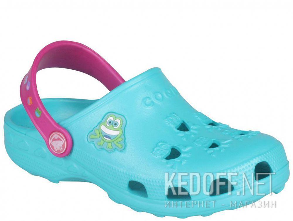 Купить Детская пляжная обувь Coqui 6402 99 39 00 8701 Turquoise/Magenta