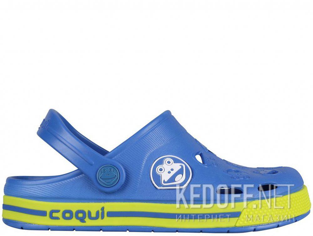 Детская пляжная обувь Coqui 6402 99 39 00 8801 Royal/Citrus купить Киев