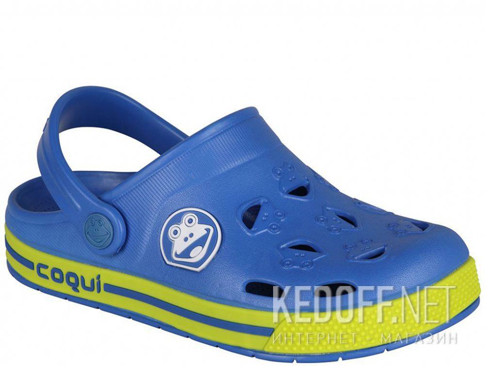 Купить Детская пляжная обувь Coqui 6402 99 39 00 8801 Royal/Citrus