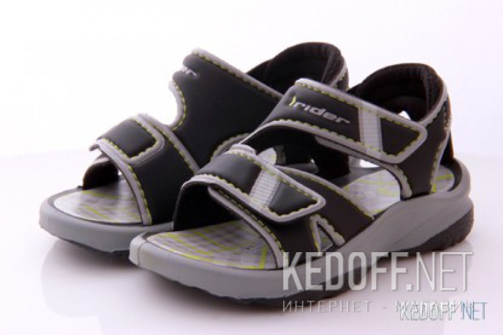 Босоножки Rider 80436-21916 (чёрный/серый) купить Киев