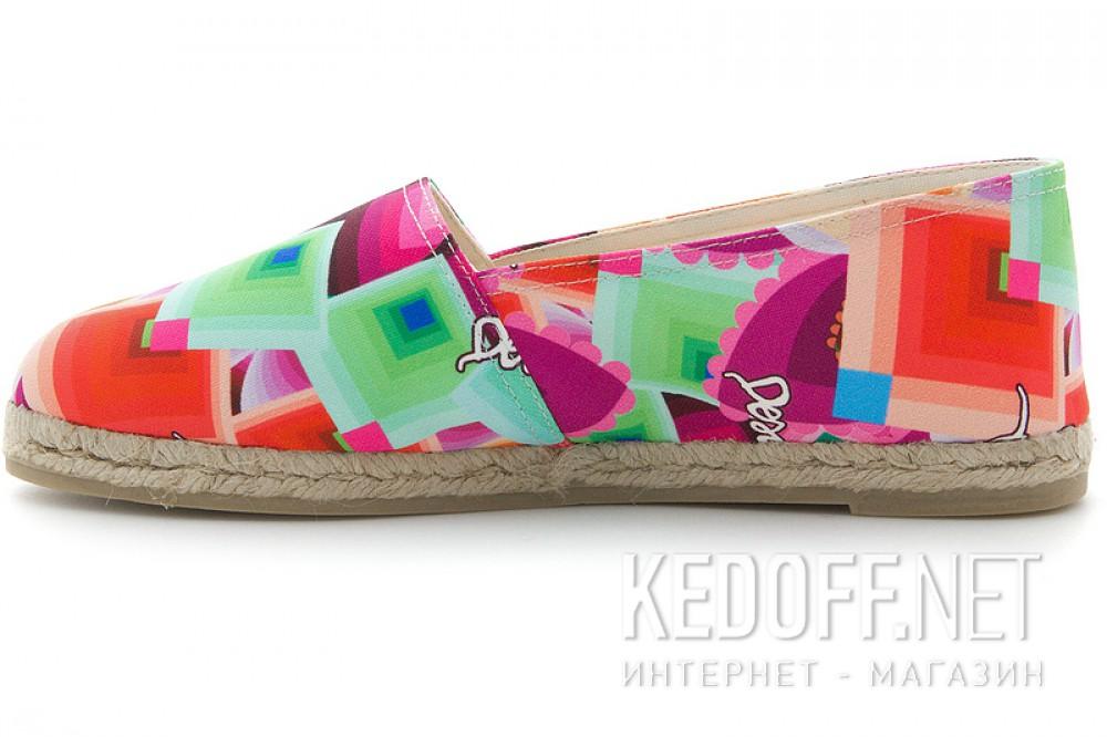 Текстильная обувь Desigual 41HS539/3043 унисекс   (бирюзовый/оранжевый/розовый/зеленый/фиолетовый/красный)