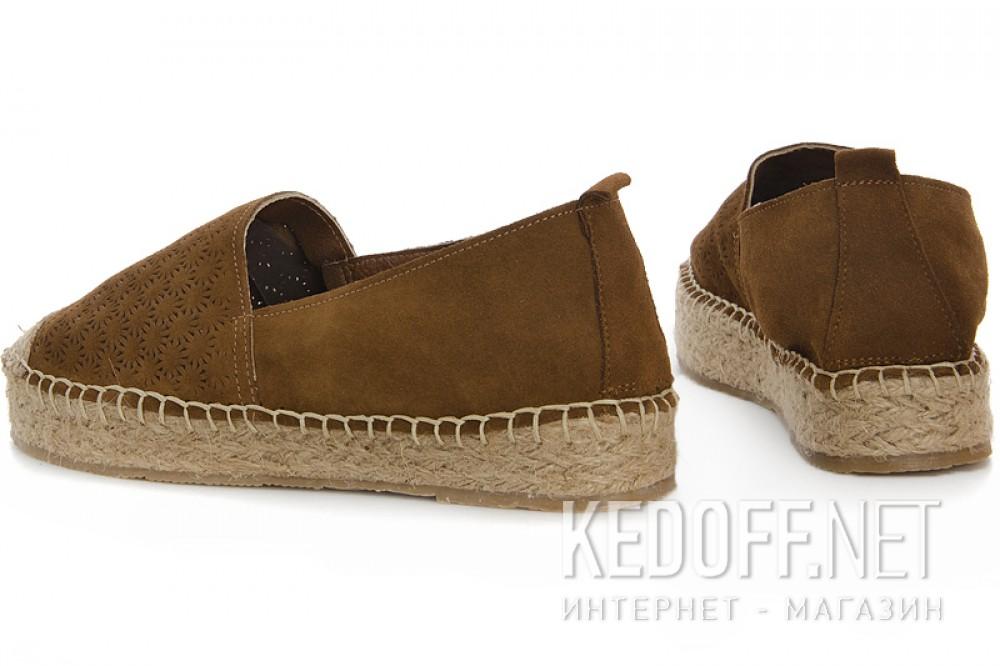Женские эспадрильи Las Espadrillas 301-10   (коричневый) купить Киев