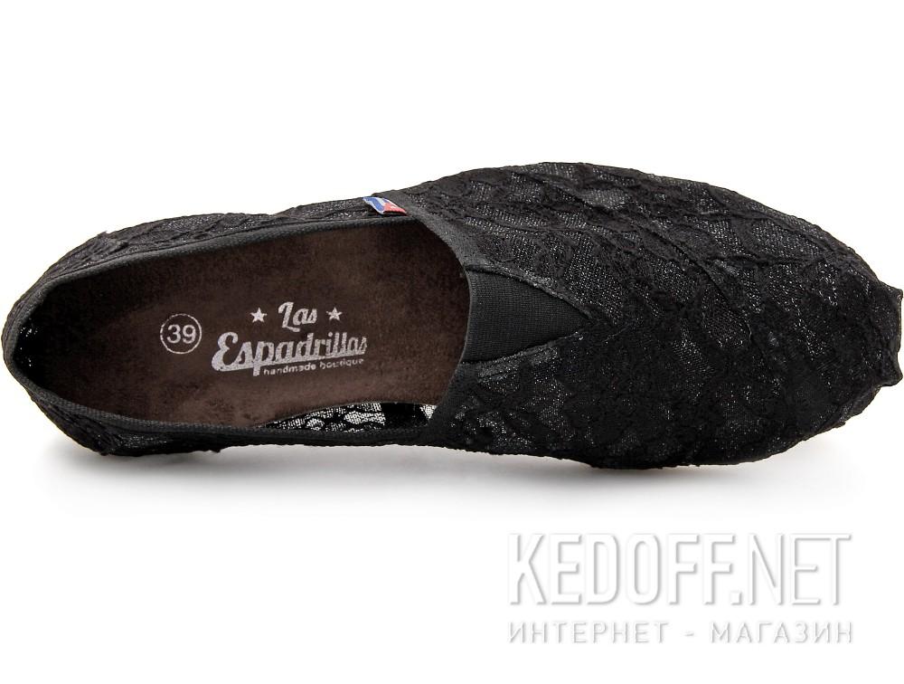 Текстильная обувь Las Espadrillas 2018-2 унисекс   (чёрный) купить Киев