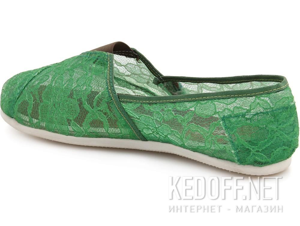 Текстильная обувь Las Espadrillas 2018-8 унисекс   (зеленый) купить Украина
