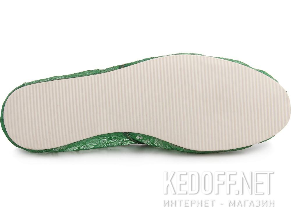 Текстильная обувь Las Espadrillas 2018-8 унисекс   (зеленый) купить Киев