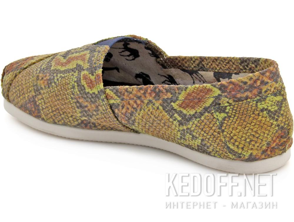 Текстильная обувь Las Espadrillas 2027-2 унисекс   (зеленый/жёлтый) купить Украина
