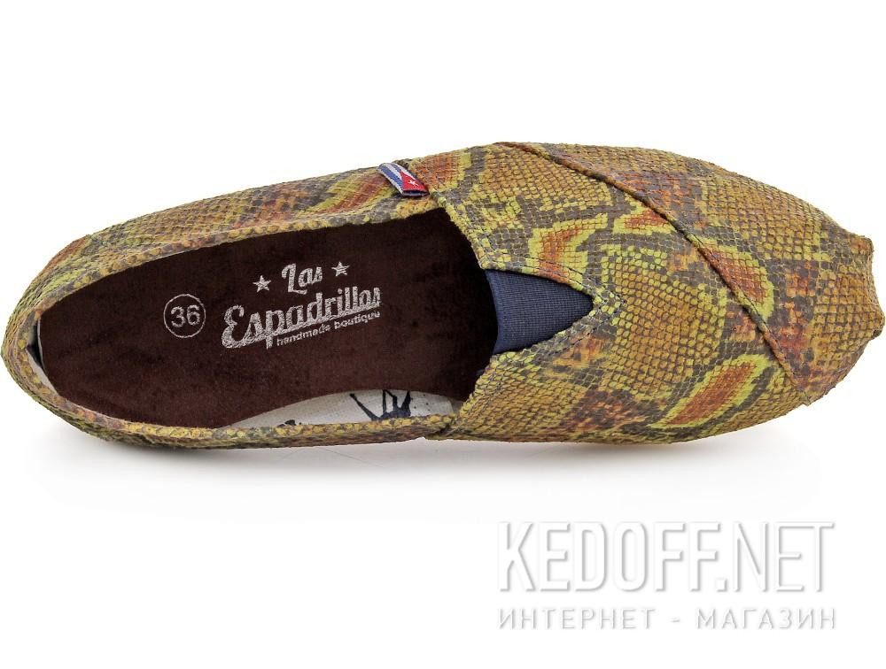 Оригинальные Текстильная обувь Las Espadrillas 2027-2 унисекс   (зеленый/жёлтый)