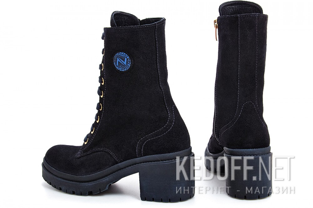 Fashion Boots Forester 0120-75391-89 Dark blue suede