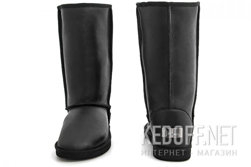 Woman sheepskin boots Forester Orriginal 10001-2002 Black Leather